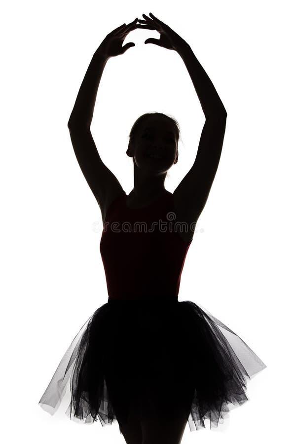 芭蕾舞女演员形状用手 免版税库存图片