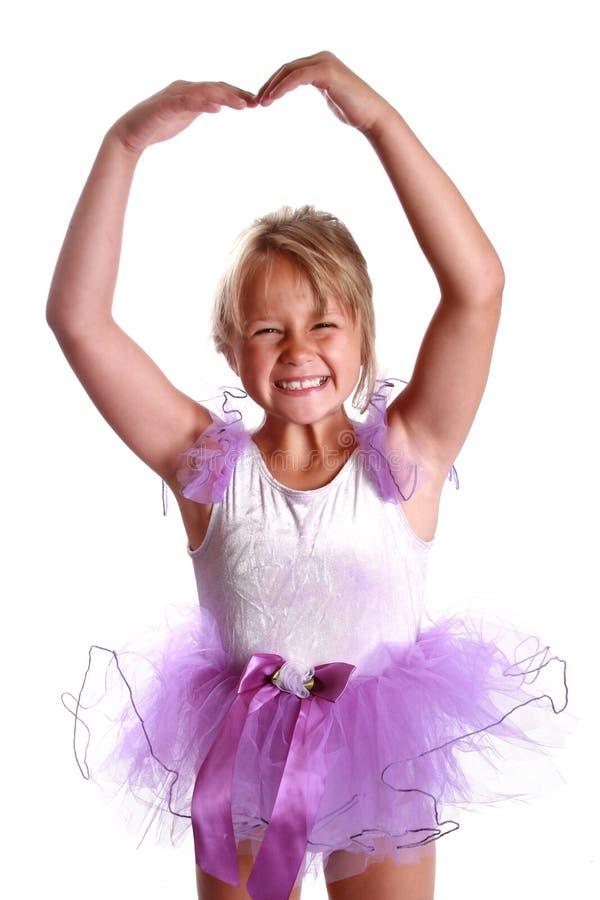 芭蕾舞女演员微笑 库存图片