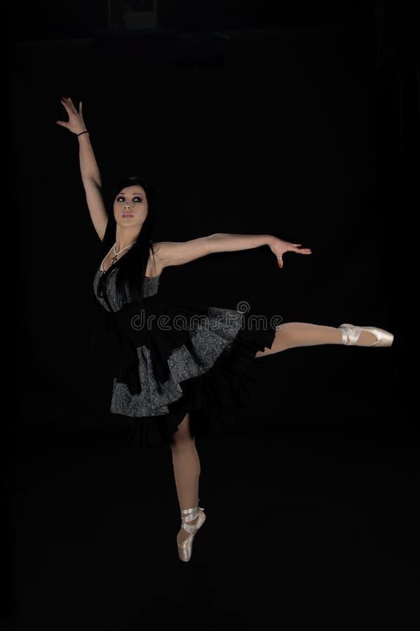 芭蕾舞女演员维多利亚女王时代的著&# 免版税库存图片