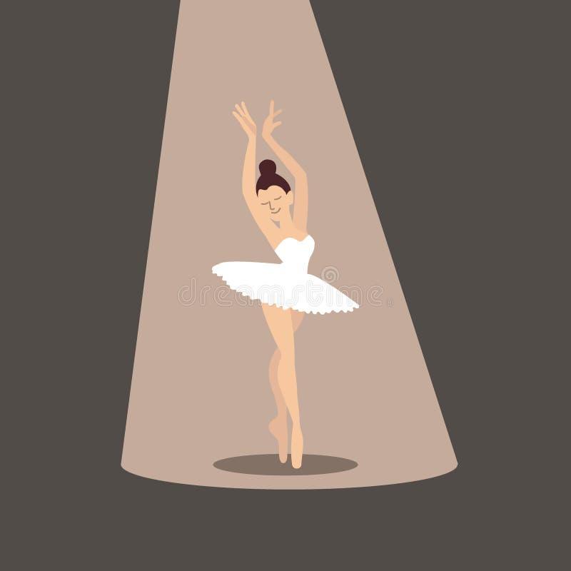 芭蕾舞女演员象 库存例证