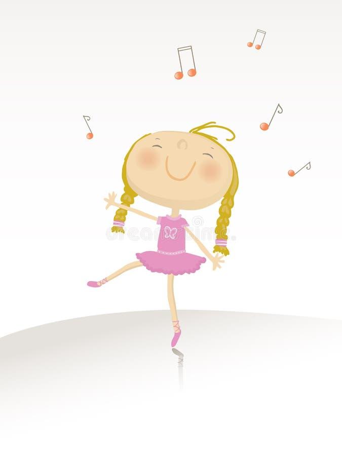 芭蕾舞女演员跳舞系列 向量例证