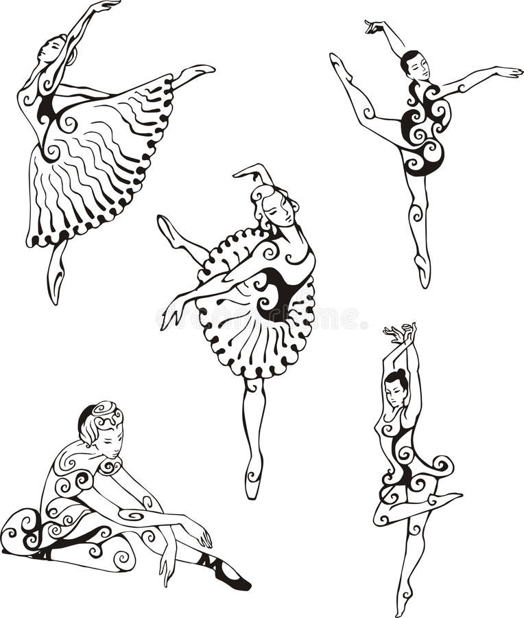 芭蕾舞女演员跳舞 库存例证