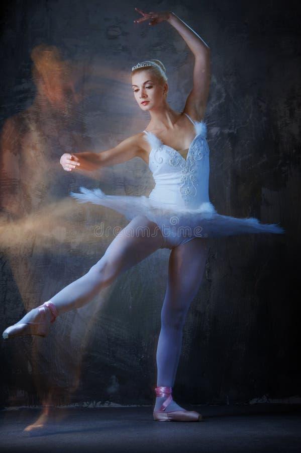 芭蕾舞女演员跳舞 免版税库存照片
