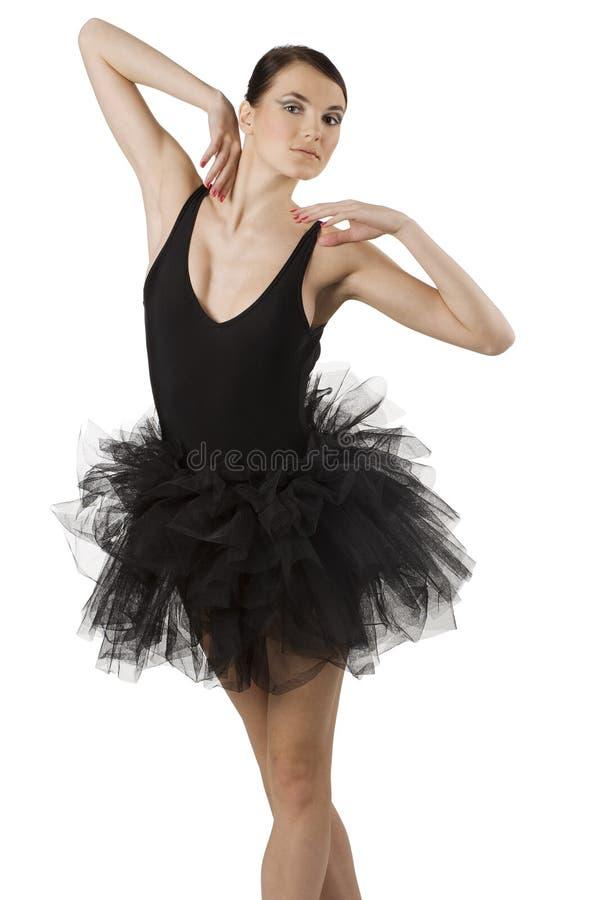 芭蕾舞女演员黑色 库存照片