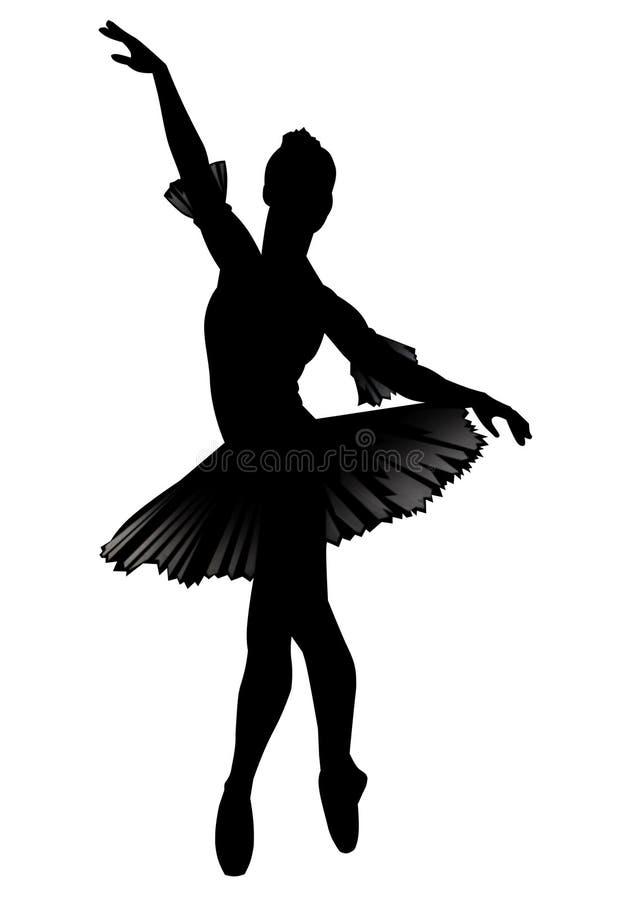 芭蕾舞女演员 向量例证