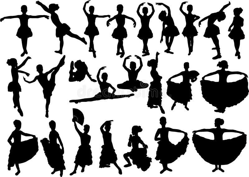 芭蕾舞女演员 库存例证