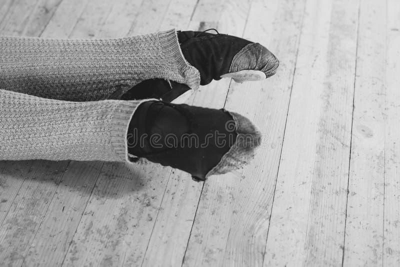 芭蕾舞女演员` s脚,艺术 免版税库存照片