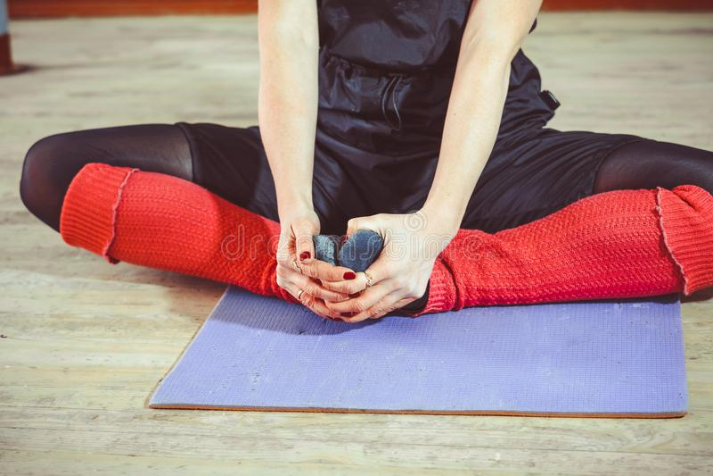 芭蕾舞女演员` s脚,艺术 库存图片