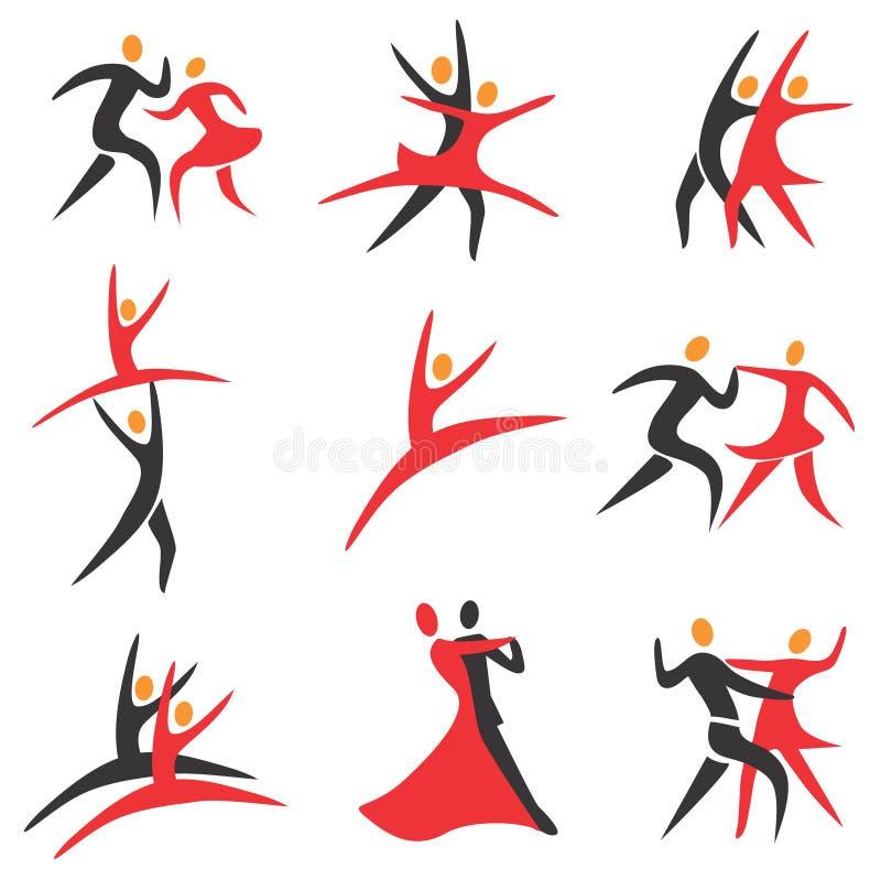 芭蕾舞蹈图标 向量例证