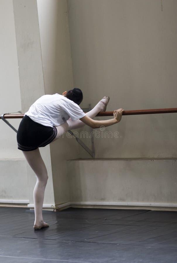 芭蕾舞蹈实践 图库摄影