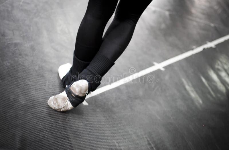 芭蕾舞蹈实践 免版税库存照片