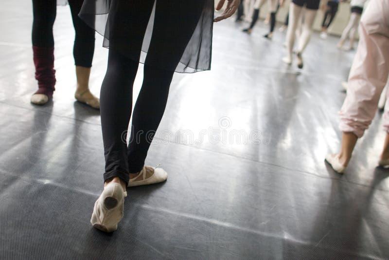 芭蕾舞蹈实践 免版税图库摄影