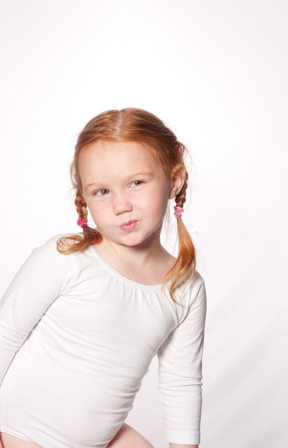 芭蕾逗人喜爱的女孩一点 库存图片
