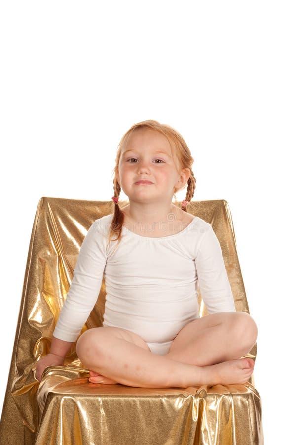 芭蕾逗人喜爱的女孩一点 库存照片