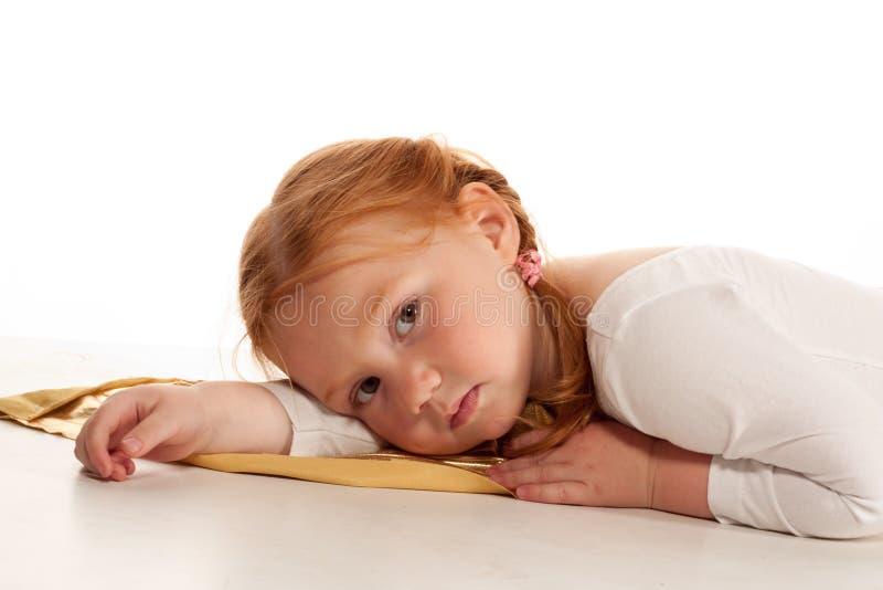 芭蕾逗人喜爱的女孩一点 免版税库存照片