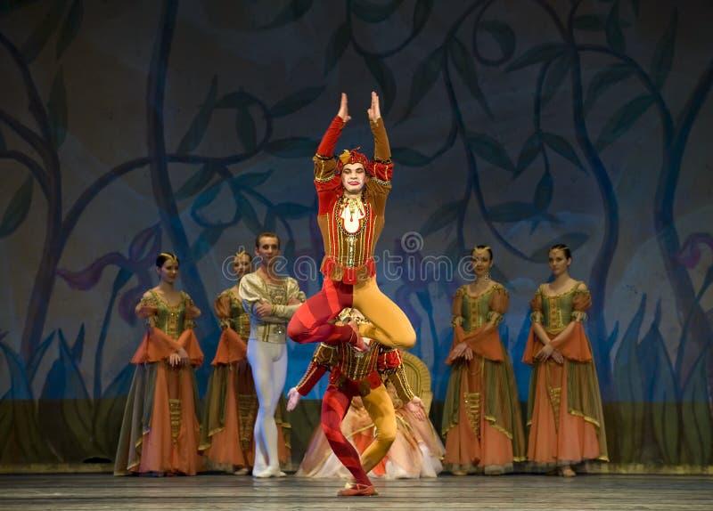 芭蕾perfome皇家俄国天鹅 免版税库存图片