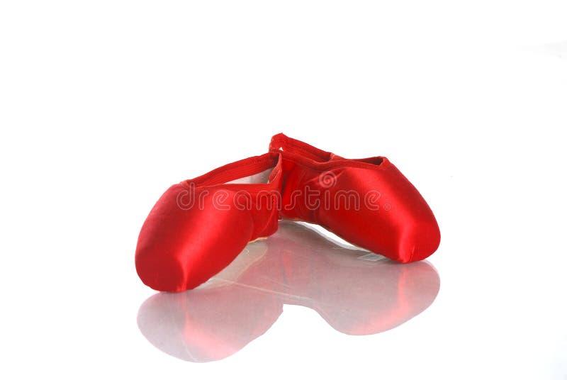 芭蕾pointe红色 库存照片