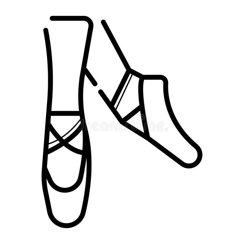 芭蕾pointes 舞蹈演播室标志 向量例证
