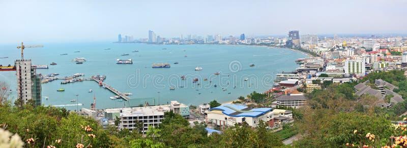 芭达亚全景,泰国 库存照片