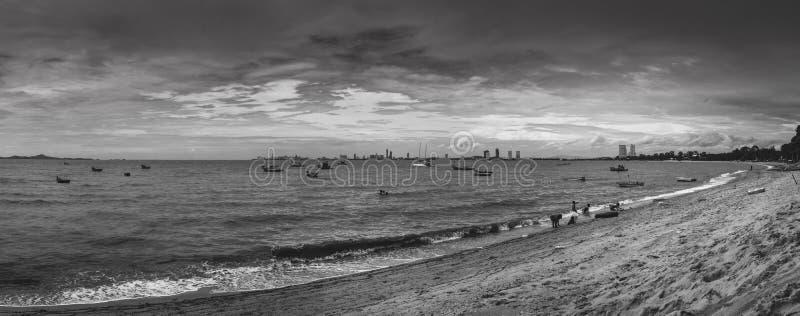 芭达亚海滩 图库摄影