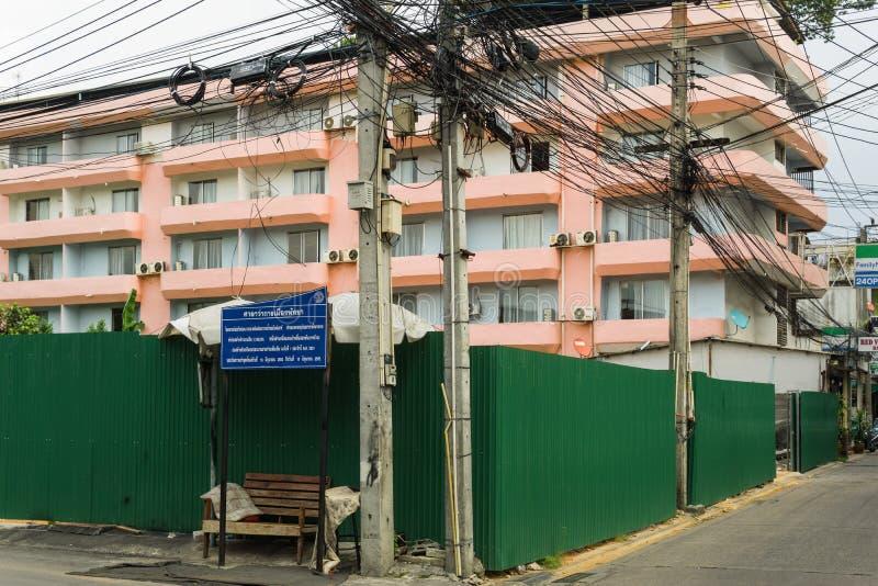 芭达亚,泰国- 10月12,2018:相井7这是一新的工地工作 免版税库存照片