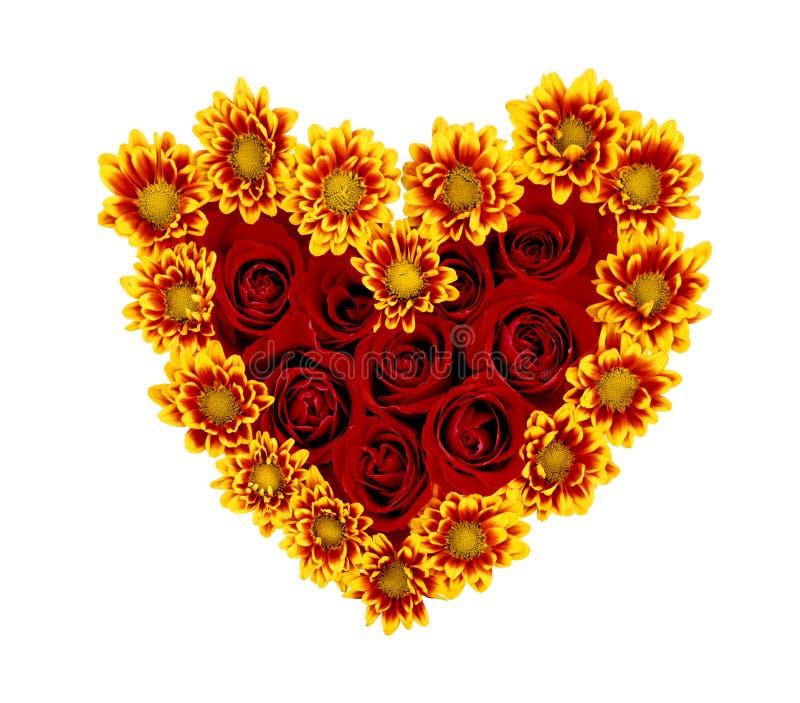 花与惊人的玫瑰的墙壁背景 免版税库存图片