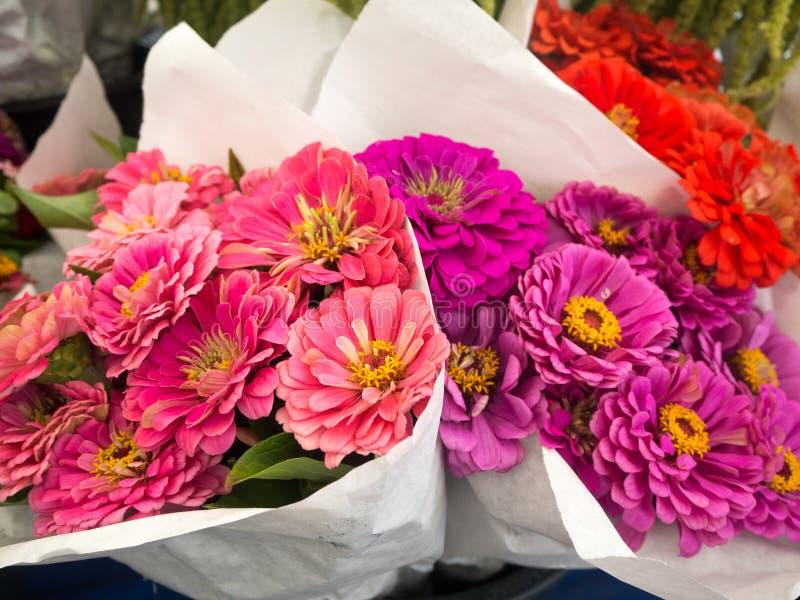 花五颜六色的花束  免版税库存图片