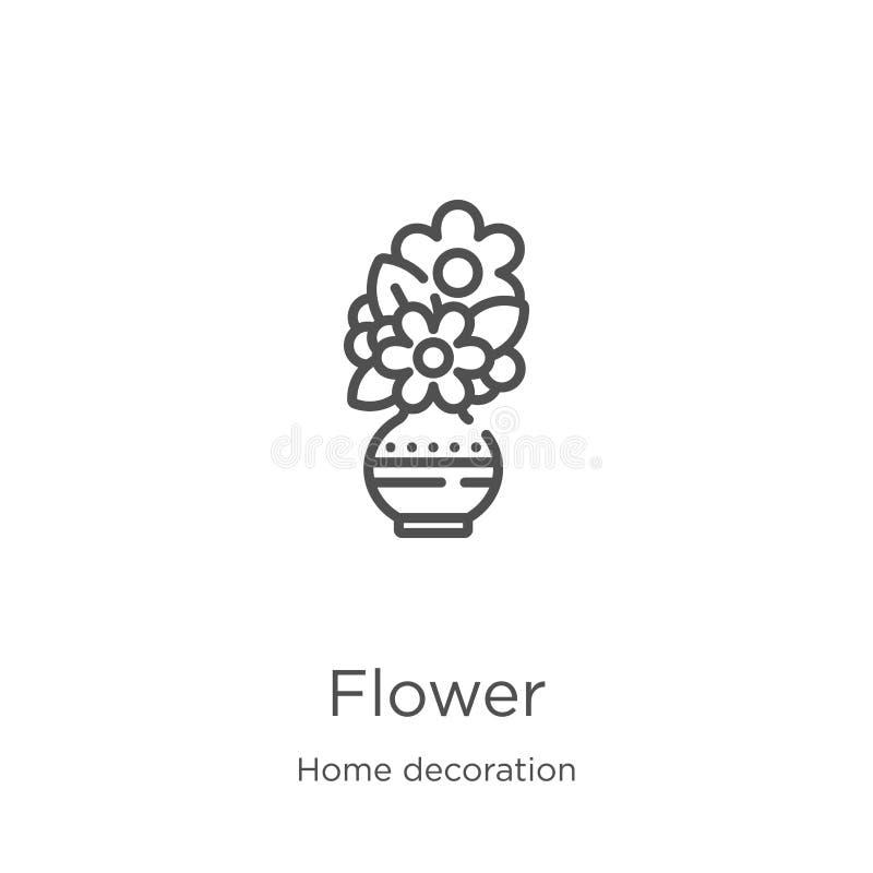 花从家庭装饰收藏的象传染媒介 稀薄的线花概述象传染媒介例证 概述,稀薄的线花 皇族释放例证