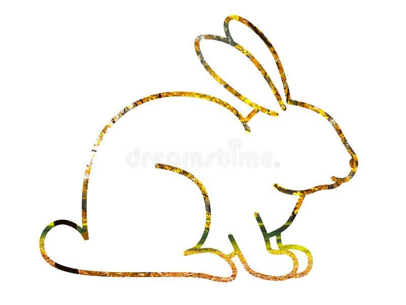 花兔宝宝的例证 库存图片