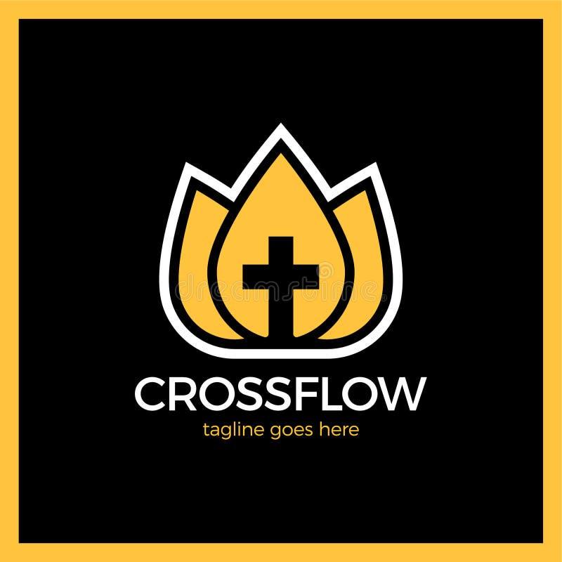 花冠十字架商标-教会受难象 皇族释放例证