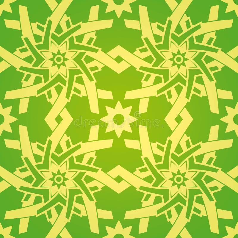 花几何模式无缝的星形 皇族释放例证