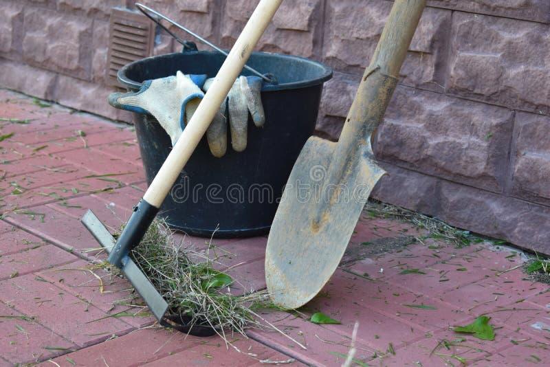 花匠的园艺工具 免版税库存图片