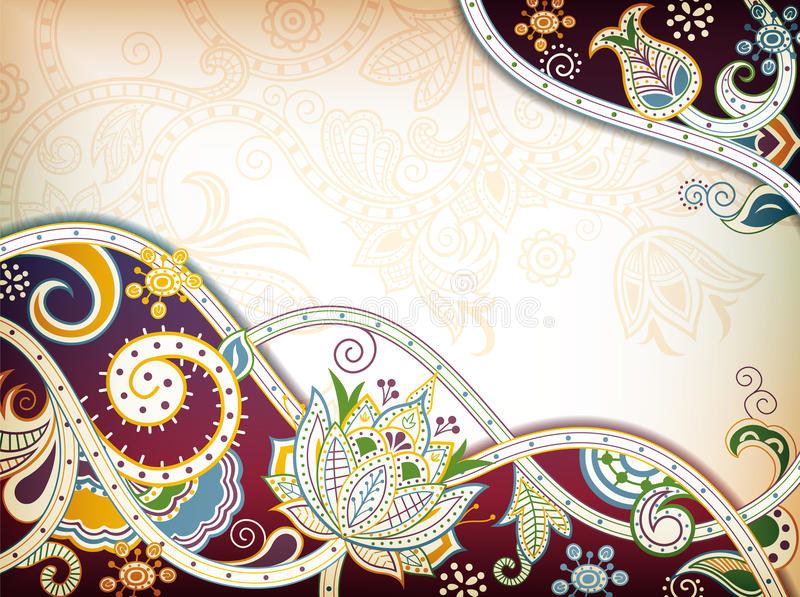 Download 花卉东方人 库存例证. 插画 包括有 抽象, 漩涡, 例证, 汉语, 样式, 叶子, 花卉, 典雅, 聚会所 - 22352616