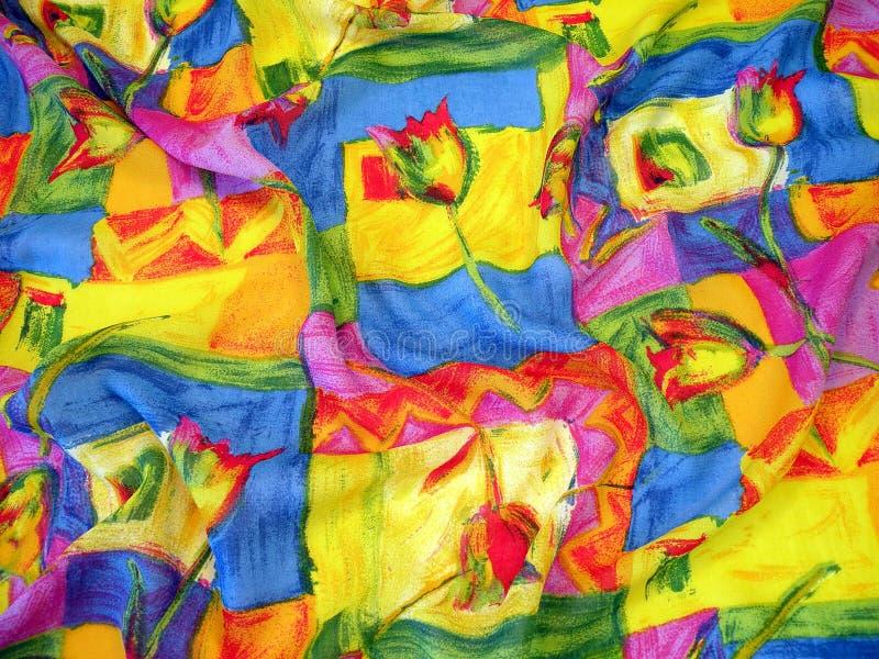 花卉丝绸 免版税库存图片