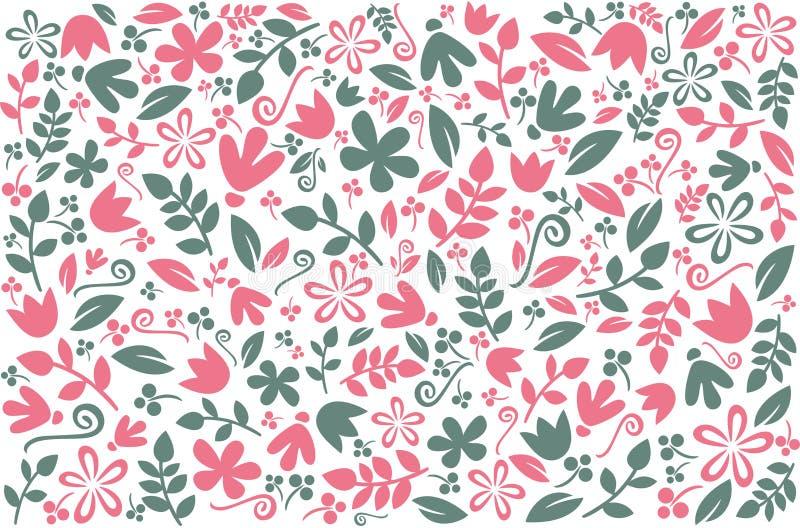 花卉五颜六色的背景设计 与典雅的花卉元素的传染媒介背景 与花卉墙纸的,纺织品, co样式 向量例证