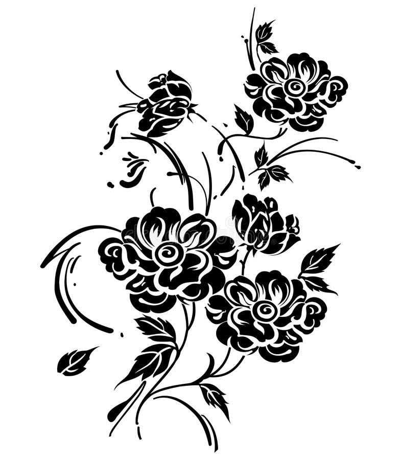 花卉传染媒介设计元素 皇族释放例证