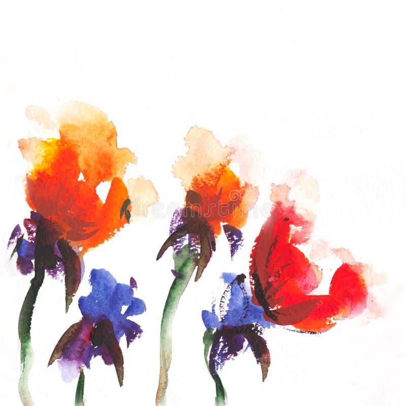 花卉例证水彩 库存例证