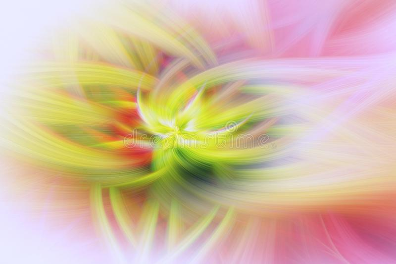 花卉分数维背景突起艺术 样式摘要 向量例证