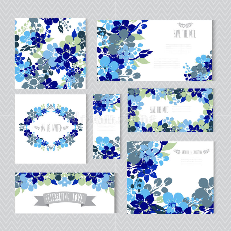 花卉卡集 向量例证