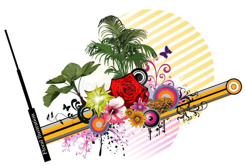 花卉向量 库存例证