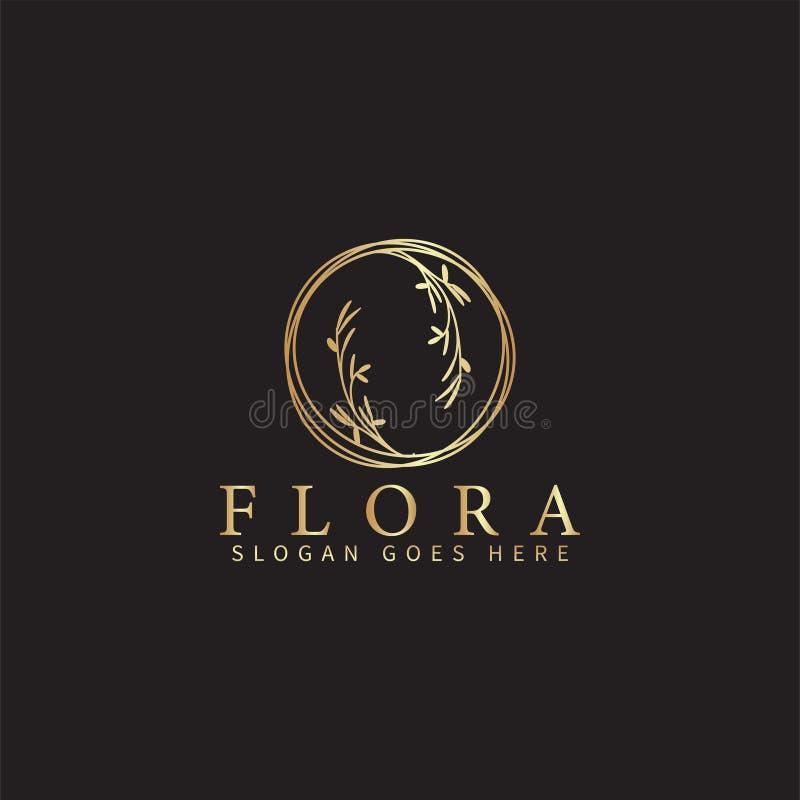 花卉商标设计模板传染媒介被隔绝的例证 皇族释放例证