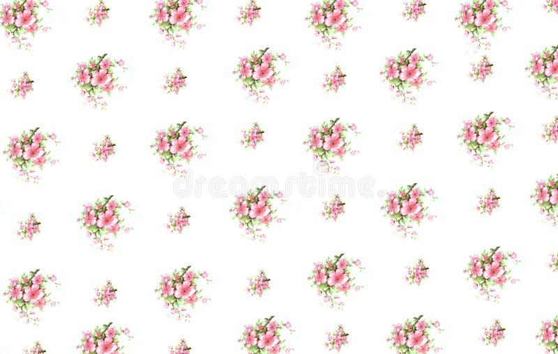 花卉图案葡萄酒 库存图片