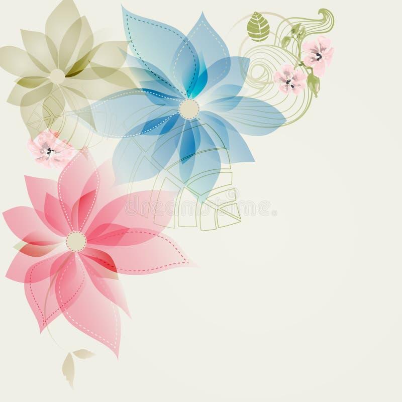 花卉壁角卡片 皇族释放例证