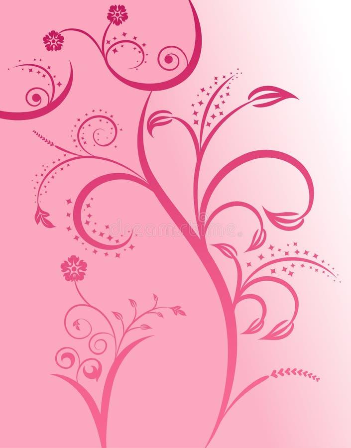花卉女孩性感的剪影 向量例证