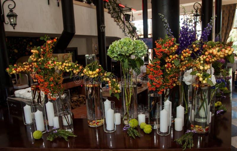 花卉婚礼装饰 库存图片