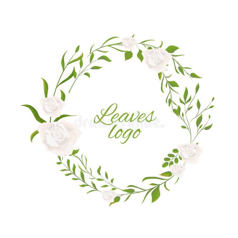 花卉婚礼邀请与传染媒介水彩样式传送的叶子的卡片设计 E 皇族释放例证