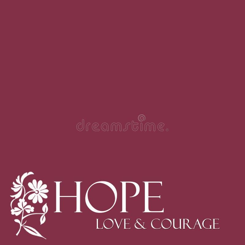 花卉希望、爱&勇气背景 向量例证