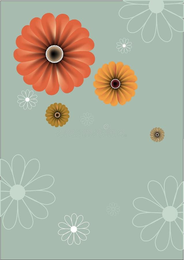花卉抽象减速火箭的背景 库存例证