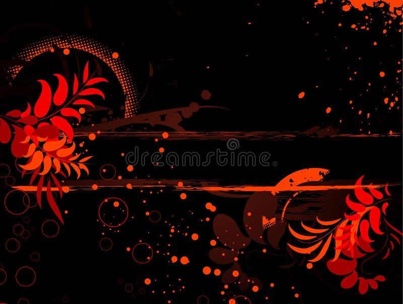 花卉抽象横幅 皇族释放例证