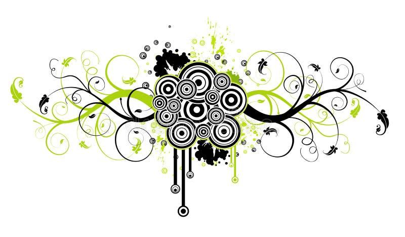 花卉抽象混乱 库存例证